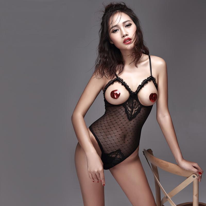 蕾絲性感睡衣情趣內衣開檔透明誘惑美人計連體束身新品史黛絲