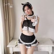 瑰若貓女郎情趣內衣服制服誘惑床上激情套裝超騷開襠免脫小胸顯大