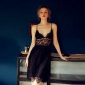 瑰若高級情趣內衣騷蕾絲透視挑逗誘惑性感嫵媚激情套裝睡裙家居服