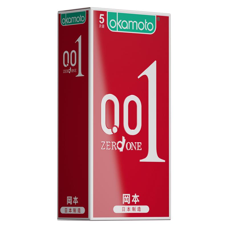 日本進口岡本001超薄型旗艦店極0 01紅色情趣持久崗本0.01避孕套