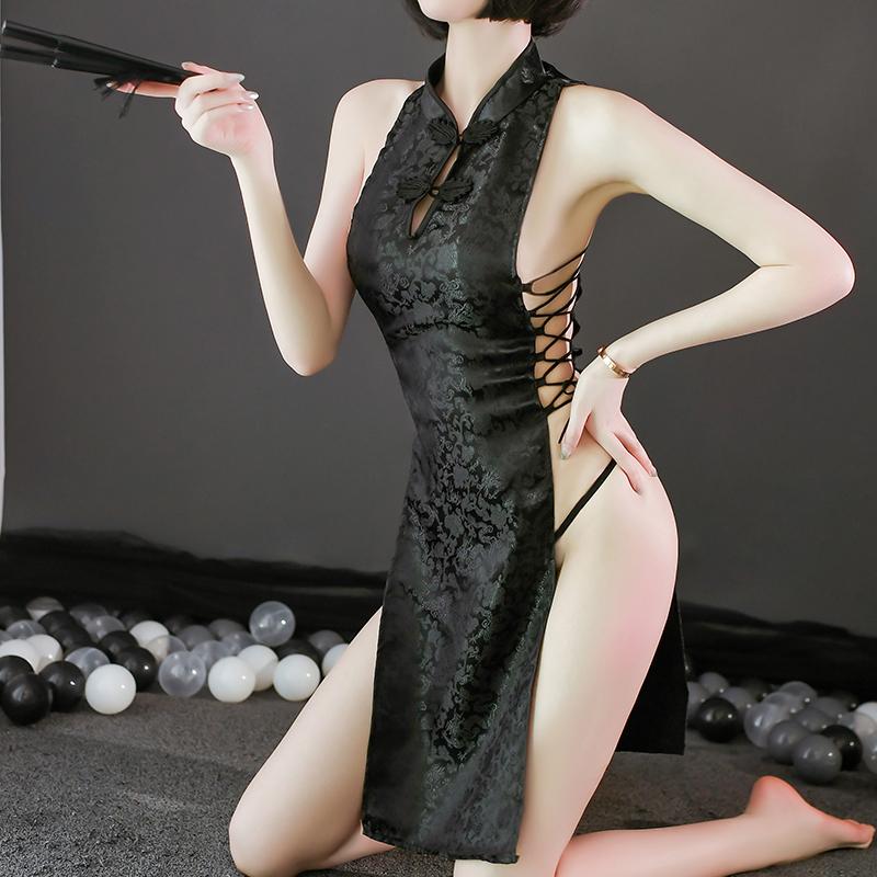 性感情趣内衣制服诱惑旗袍套装超骚服装开裆免脱挑逗激情火辣床上