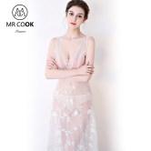 Mrcook 七个分贝 高端性感透视情趣定制礼服夜店服蕾丝内衣女神服