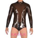 乳膠衣 男士乳膠泳衣 緊身連體泳衣 cos變裝 偽娘 定做