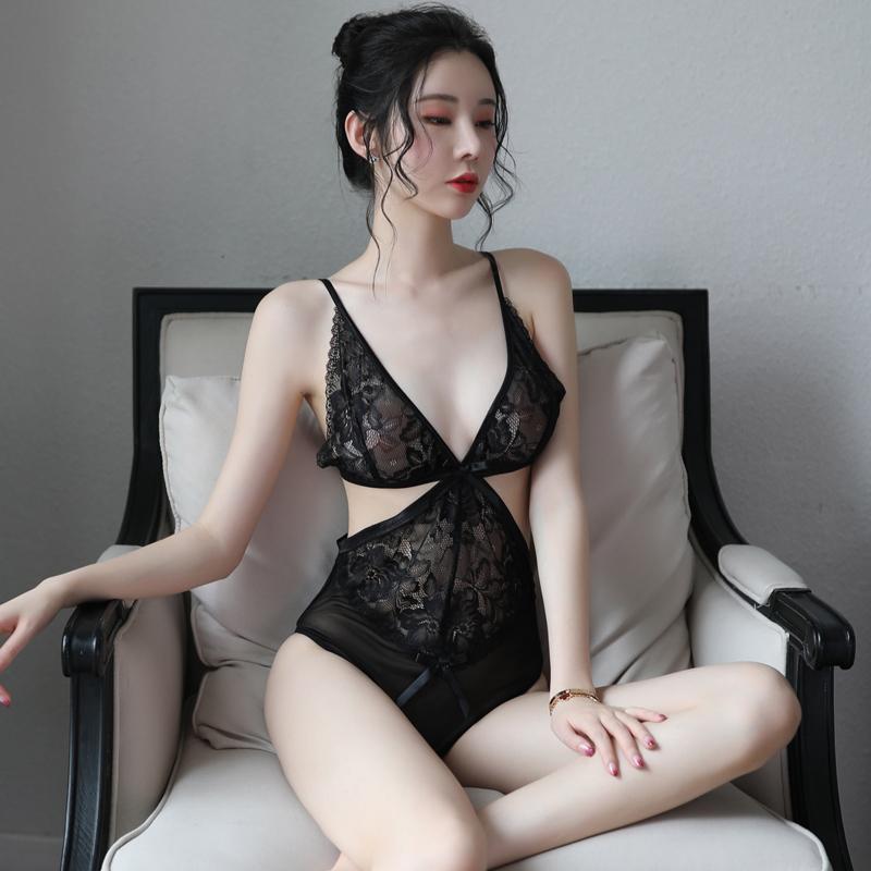 性感情趣內衣肚兜式透明床上私房誘惑短裙睡衣火辣激情套裝騷學生