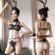 情趣内衣骚诱惑三点式激情套装骚透视蕾丝调情超薄款软妹胸罩日系