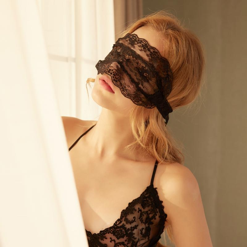 女款激情蕾丝情趣眼罩性感内衣服制服SM面具遮眼用品夫妻调情面罩