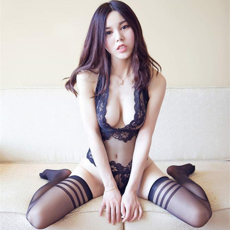 性感透視蕾絲連體情趣內衣服激情套裝誘惑三點式騷挑逗睡衣血滴子