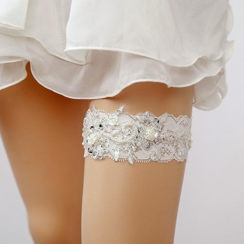 配飾襪帶吊襪帶 婚紗腿圈蕾絲配件腿環襪套腿套性感吊帶新娘公主